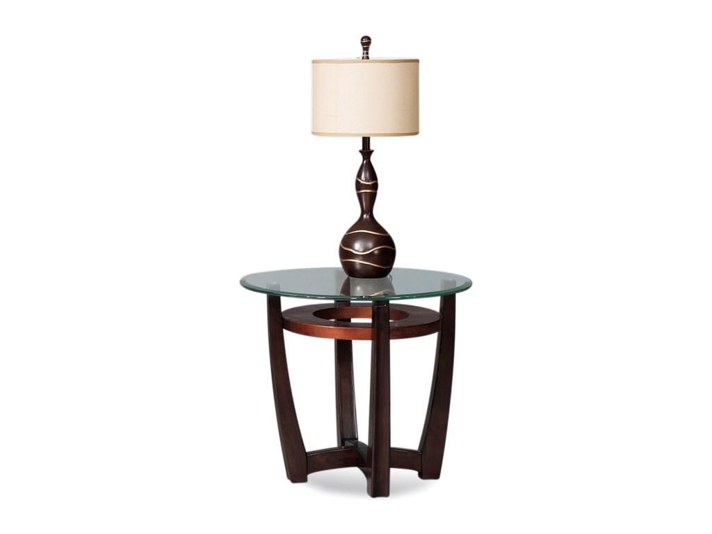 Bassett Mirror Thoroughly ModernElation Round End Table