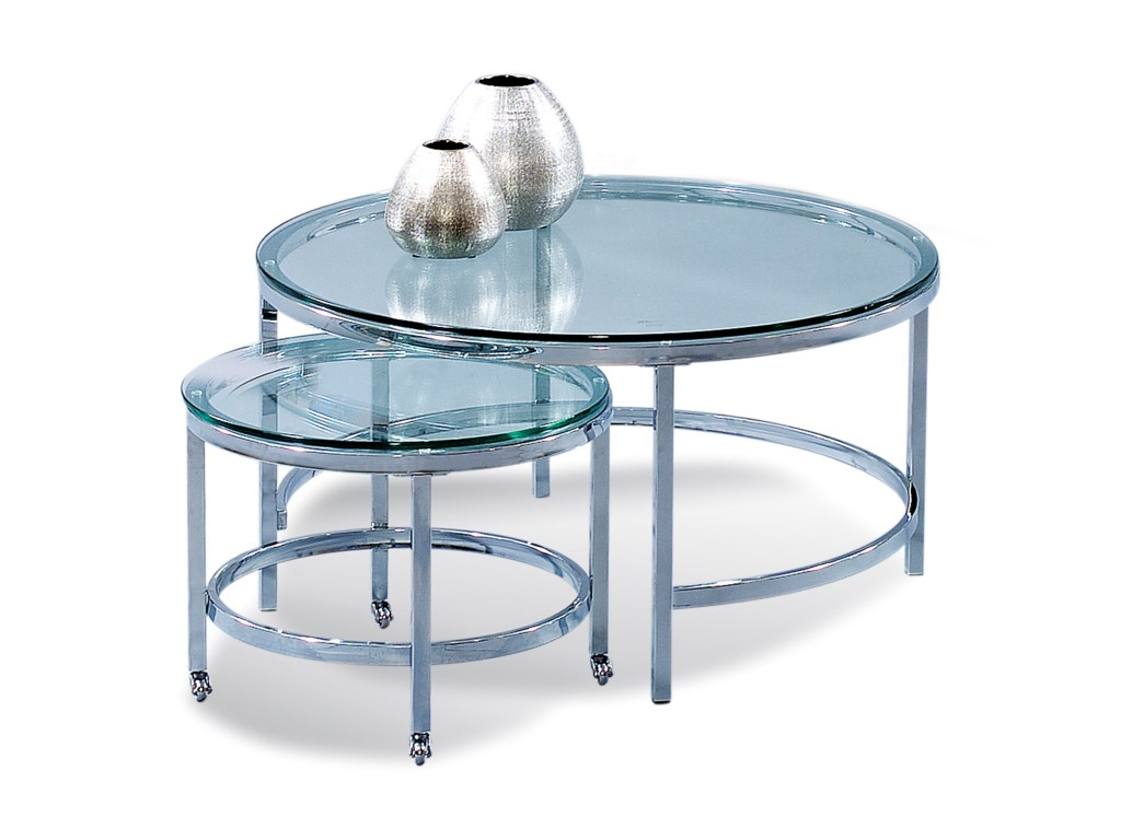 Bassett Mirror Thoroughly ModernPatinoire Round Cocktail Table