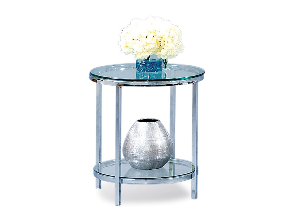 Bassett Mirror Thoroughly ModernPatinoire Round End Table