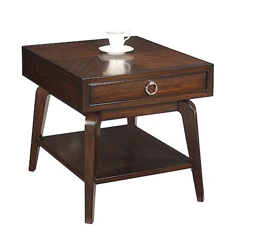 Bassett Mirror Thoroughly Modern Omni Rectangular End Table