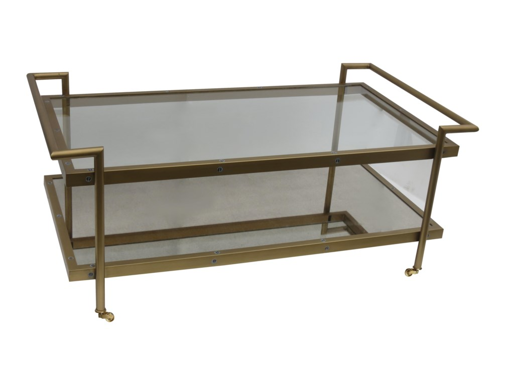 Bassett Mirror Thoroughly ModernFouquet Rectangle Cocktail Table