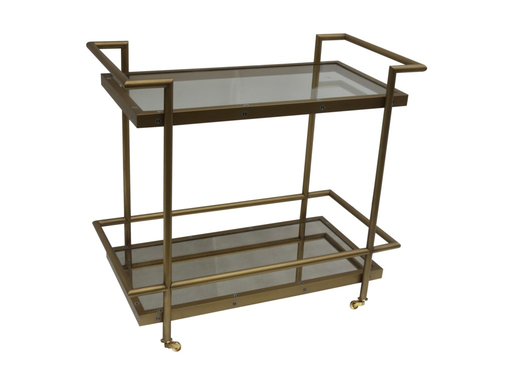Bassett Mirror Thoroughly ModernFouquet Tea Cart