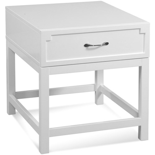 Bassett Mirror Zoe Rectangular End Table w/ Drawer
