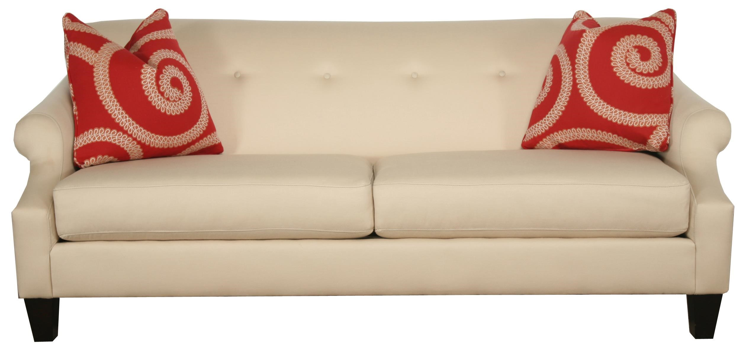 153 Two Cushion Sofa With Rolled Arms And Button Tufting By Bauhaus