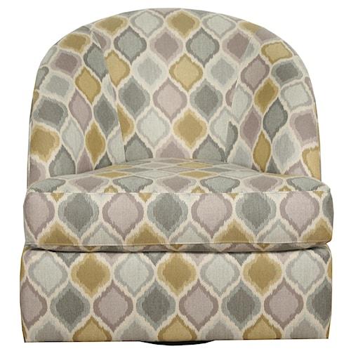 Bauhaus 459 Contemporary Barrel Back Swivel Chair