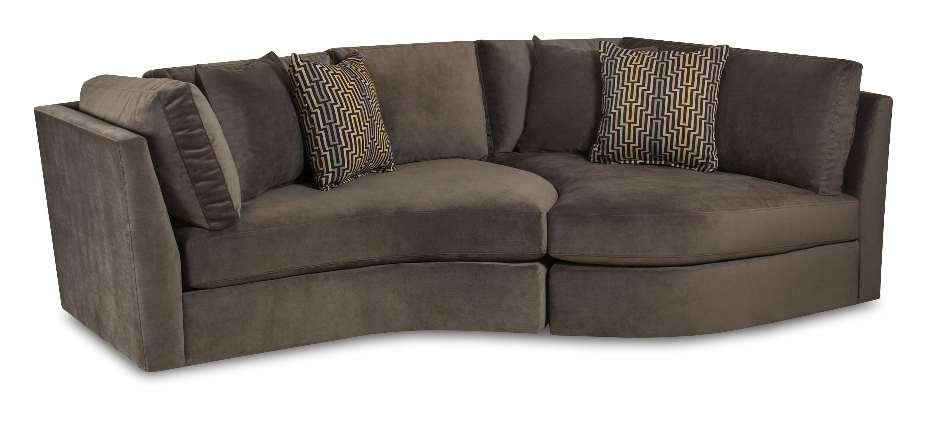 55JA Transitional Two Piece Accent Sofa With Curved Shape By Bauhaus