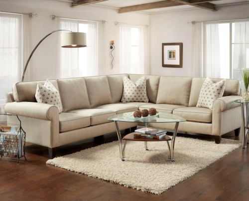 Bauhaus 714 2-Piece Sectional with Rolled Arms