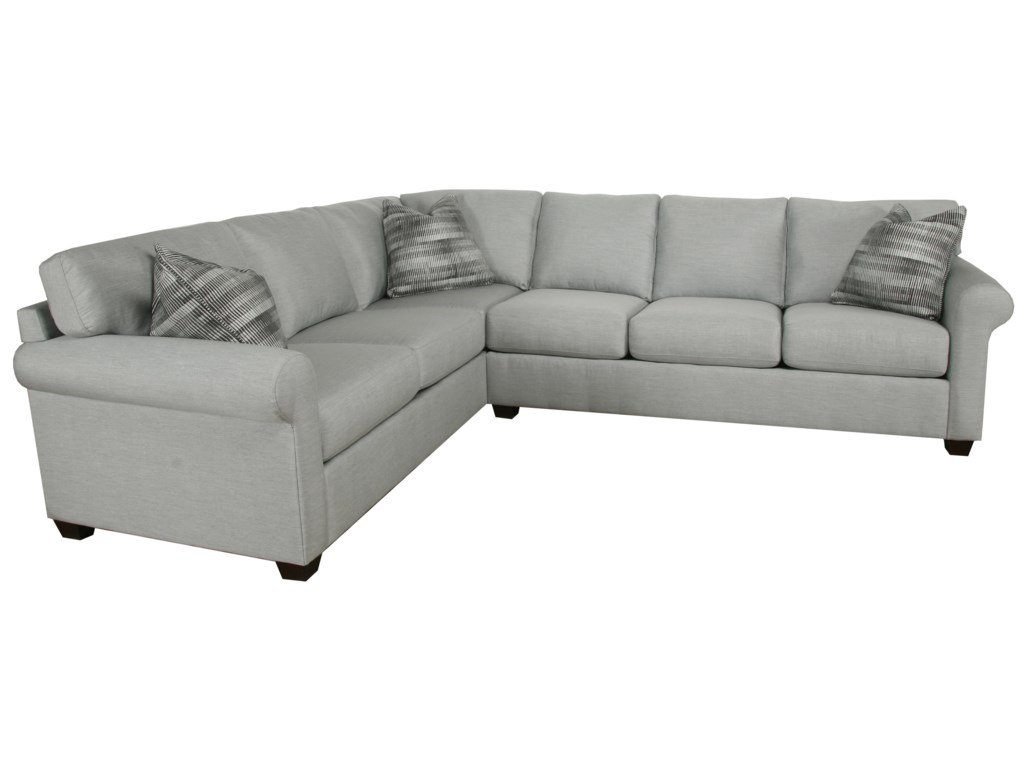 810 Transitional 2 Piece Sectional By Bauhaus