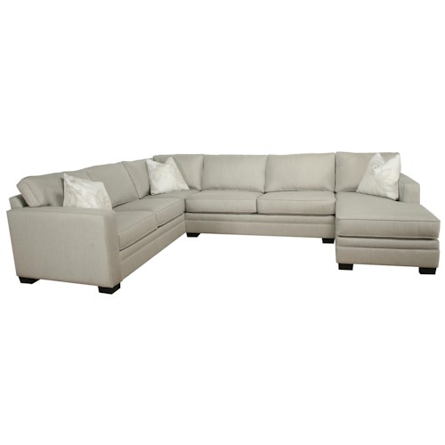 Bauhaus B13 Contemporary 3 Piece Sectional With Chaise Sunbrella Fabric