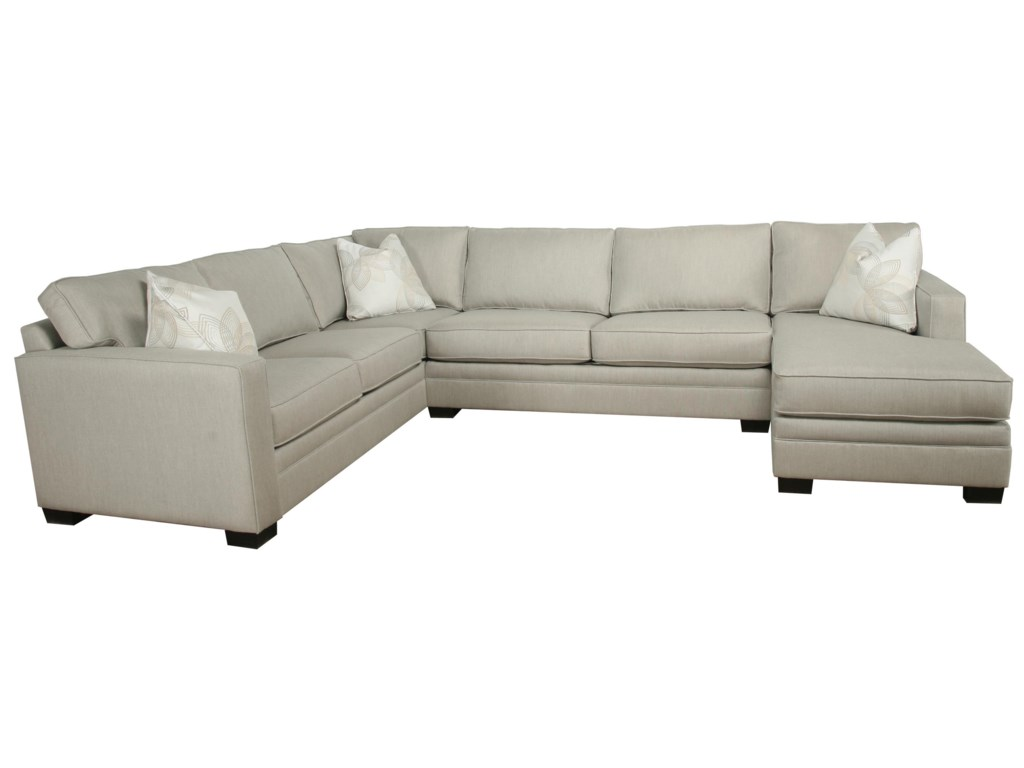 B13 Contemporary 3 Piece Sectional With Chaise By Bauhaus