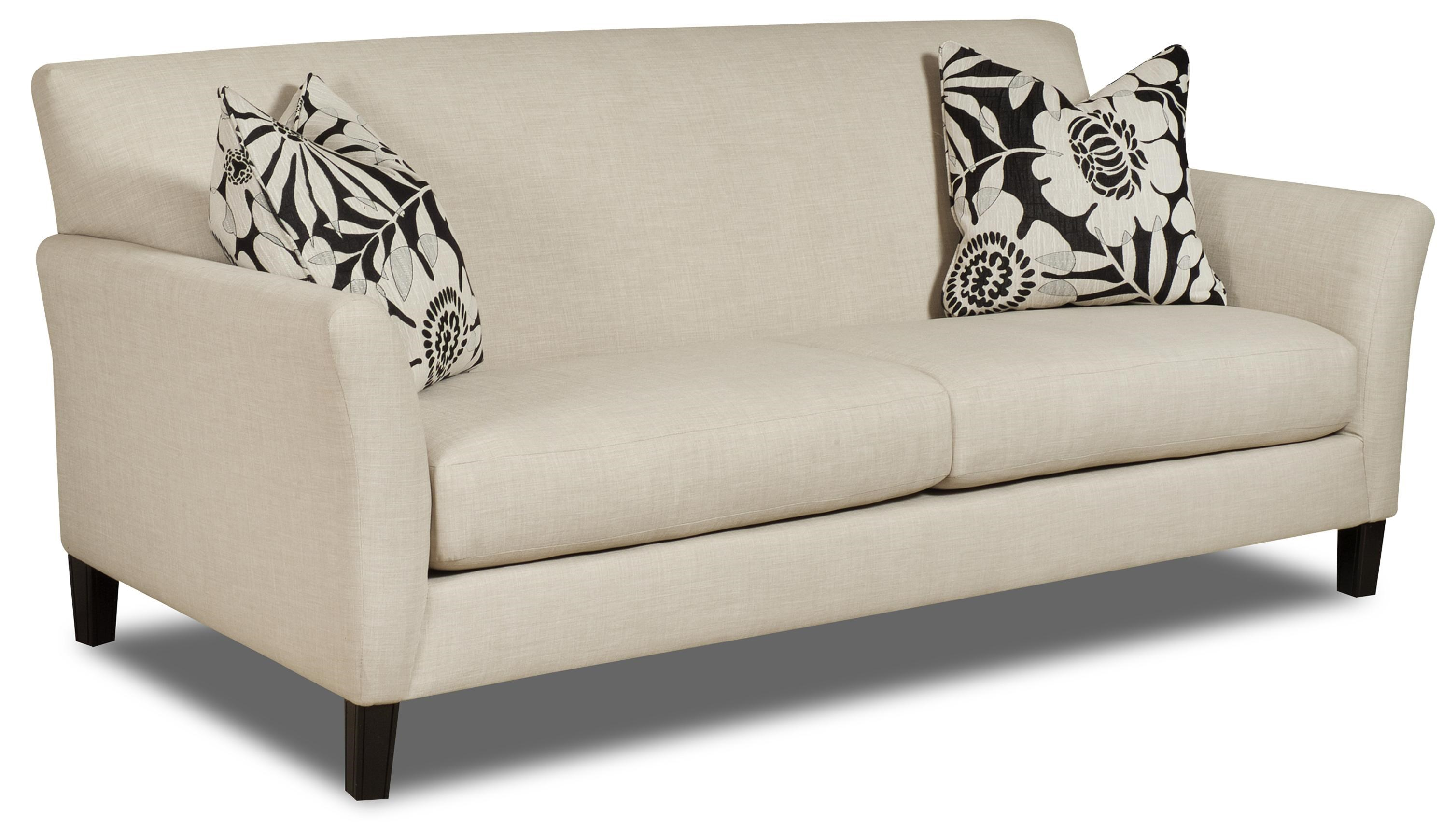 Charmant C35 Contemporary Flared Track Arm Sofa With Exposed Tapered Feet By Bauhaus