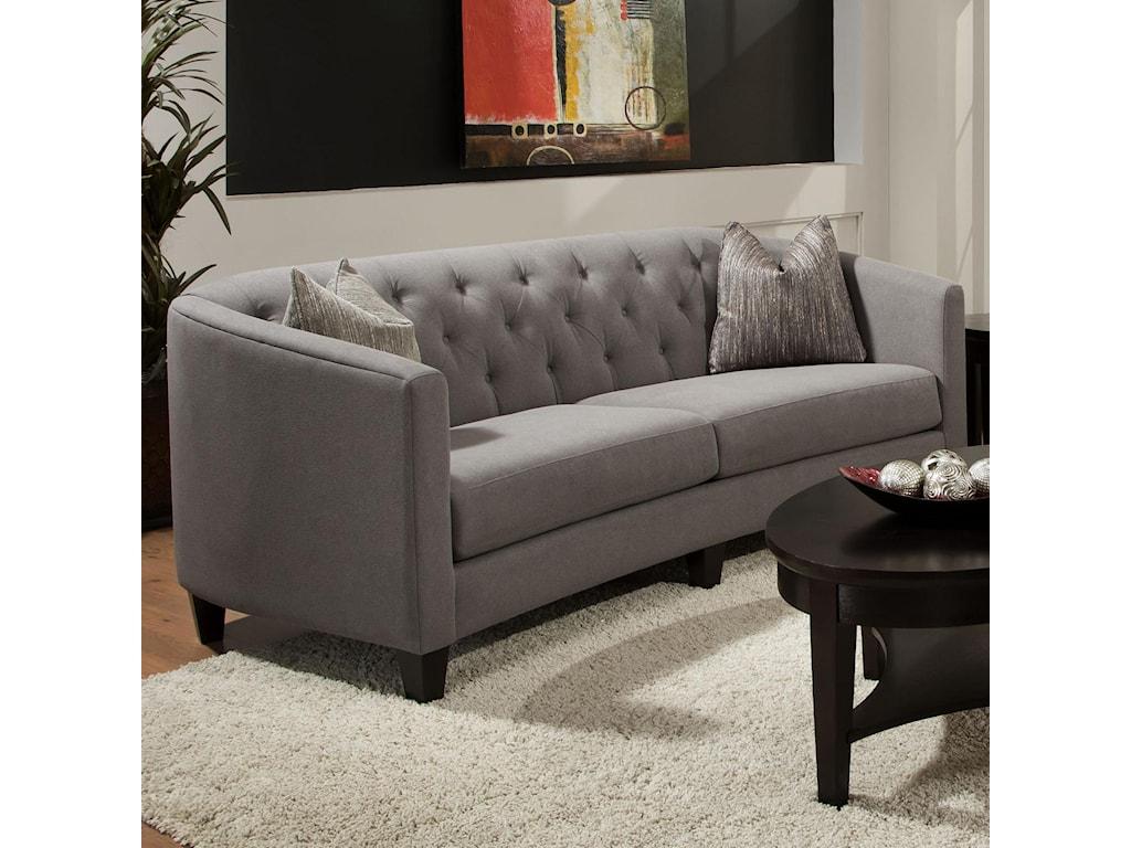 Bauhaus ConnickContemporary Sofa with 2 Pillows