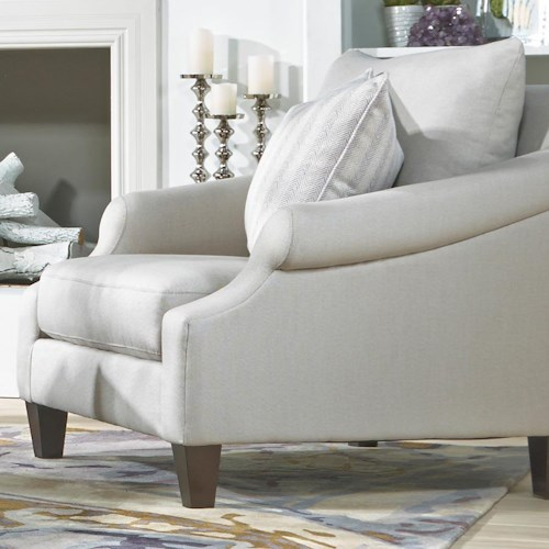 Metro Collection McLean Transitional French Upholstered Chair