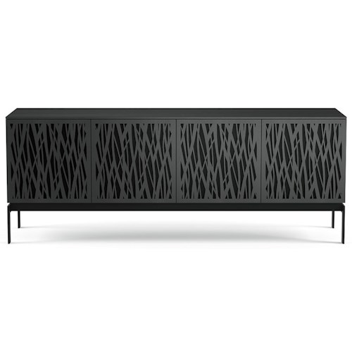BDI Elements Quad TV Console with Laser Cut Door Fronts