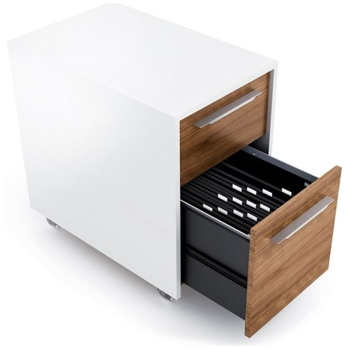 BDI Format Mobile File Pedestal with 2 Drawers