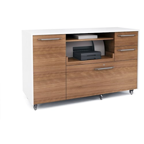 BDI Format Mobile Credenza with Pull-Out Printer Tray