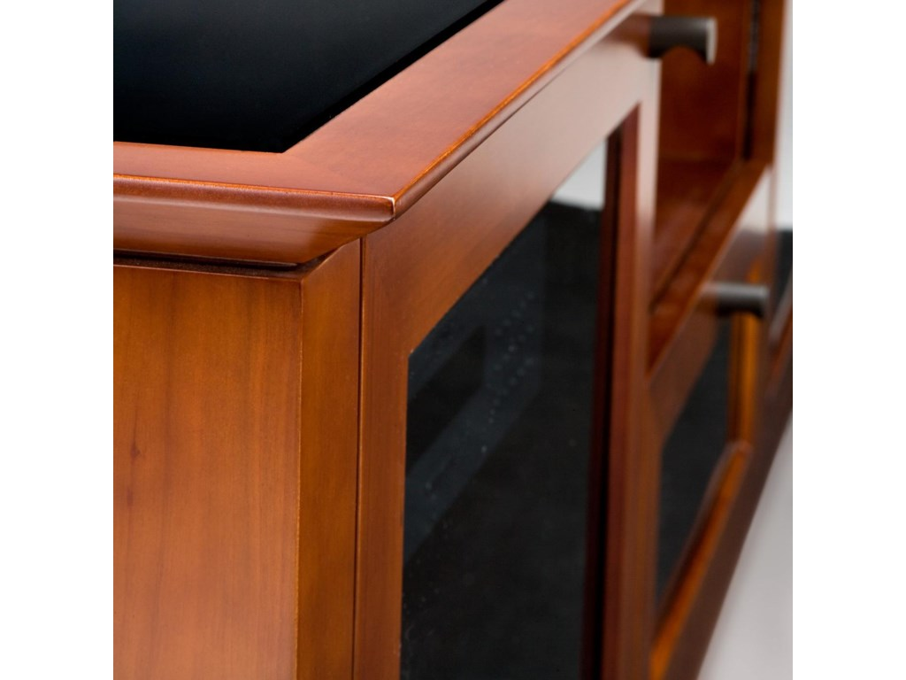 Up Close Look of TV Stand Edge