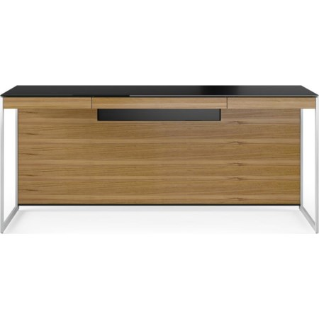 Desk With Back Panel