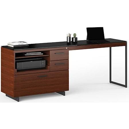 Multifunction Cabinet With Desk Return