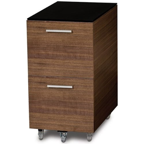 BDI Sequel Tall Mobile File Pedestal with 2 Drawers