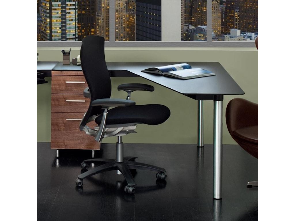 BDI SequelPeninsula Desk with File Cabinet