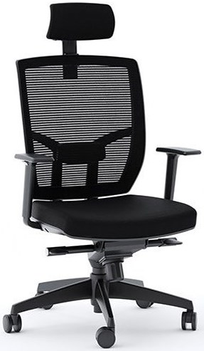 BDI Task Chairs Fabric Task Chair with Black Base