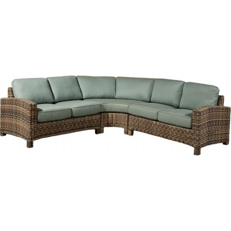 3PC Sectional W/4 Throw Pillows