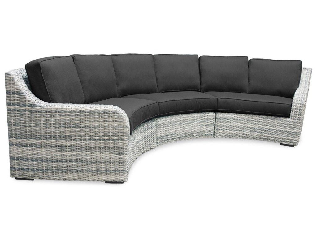 Southern Ss 3pc Outdoor Sectional Sofa W Sunbrella Fabric