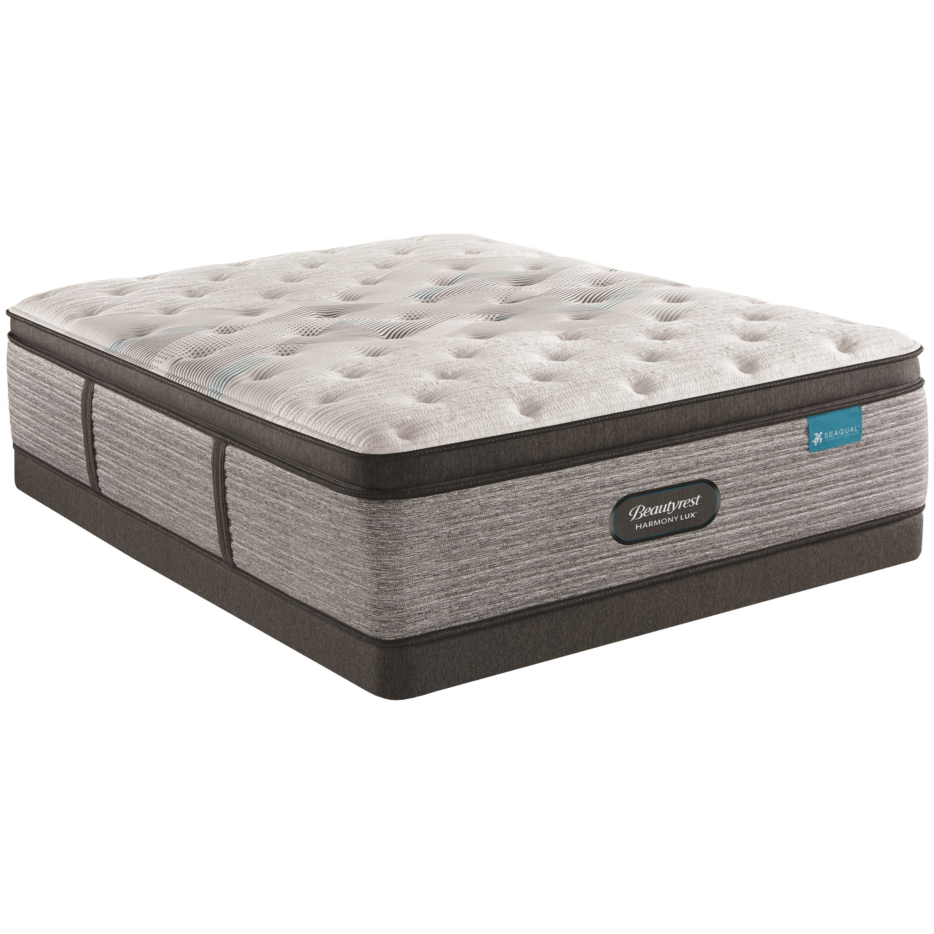 """Full 15 3/4"""" Plush Pillow Top Pocketed Coil Mattress and 5"""" Low Profile Foundation"""