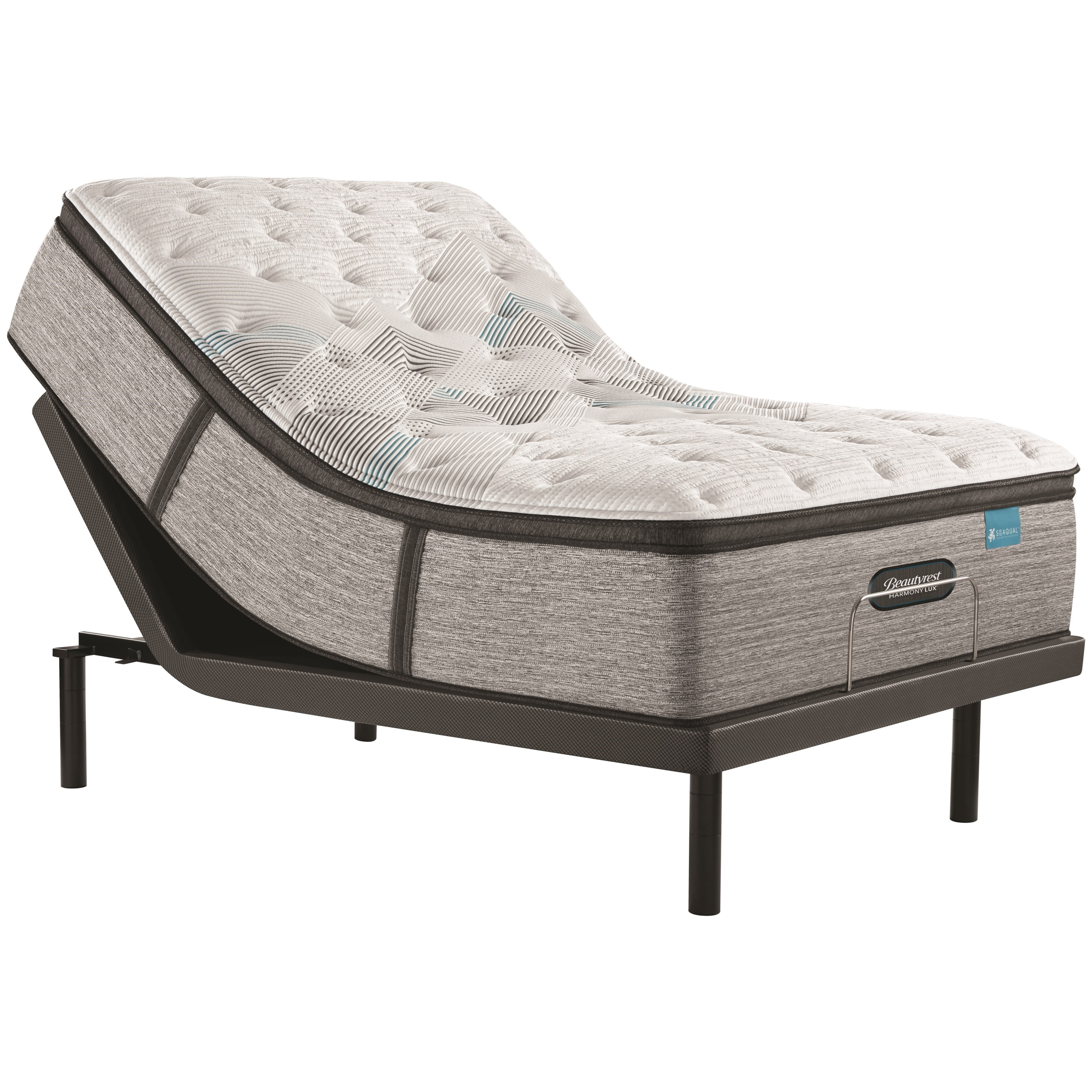 """King 15 3/4"""" Plush Pillow Top Pocketed Coil Mattress and Advanced Motion Adjustable Base"""