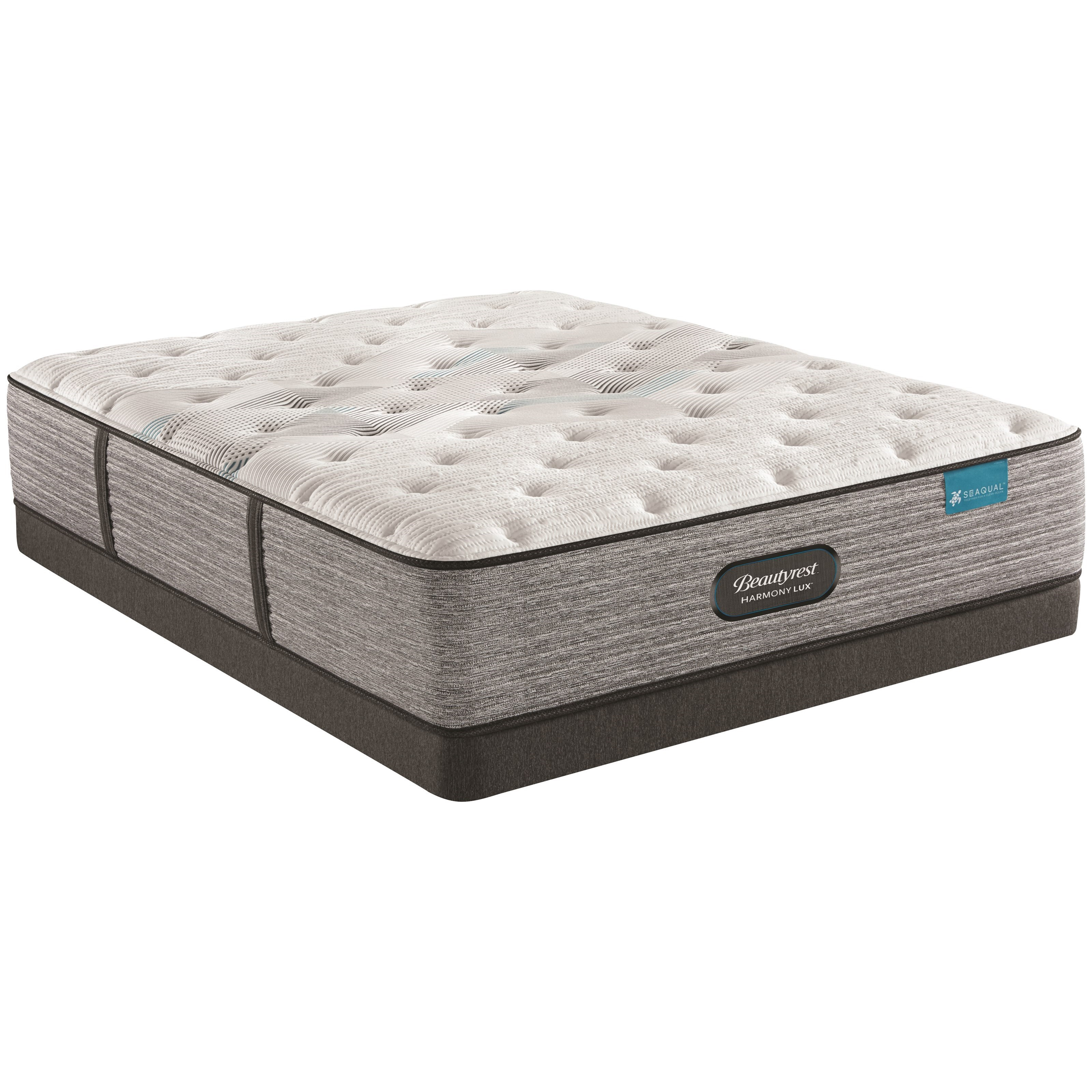 """Full 13 3/4"""" Plush Pocketed Coil Mattress and 5"""" Low Profile Foundation"""