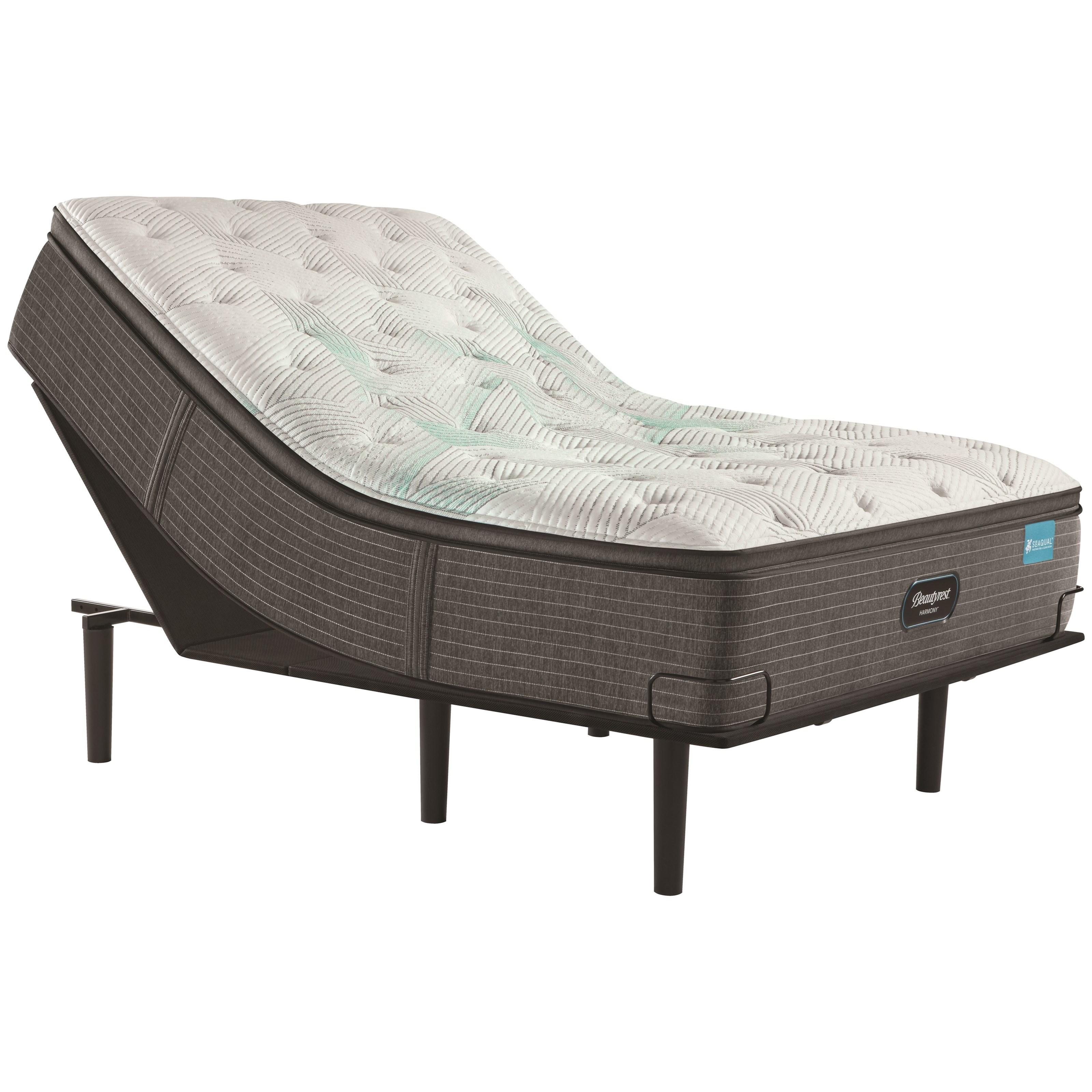"Cal King 15 1/2"" Medium Pillow Top Mattress and Simple Motion Adjustable Base"