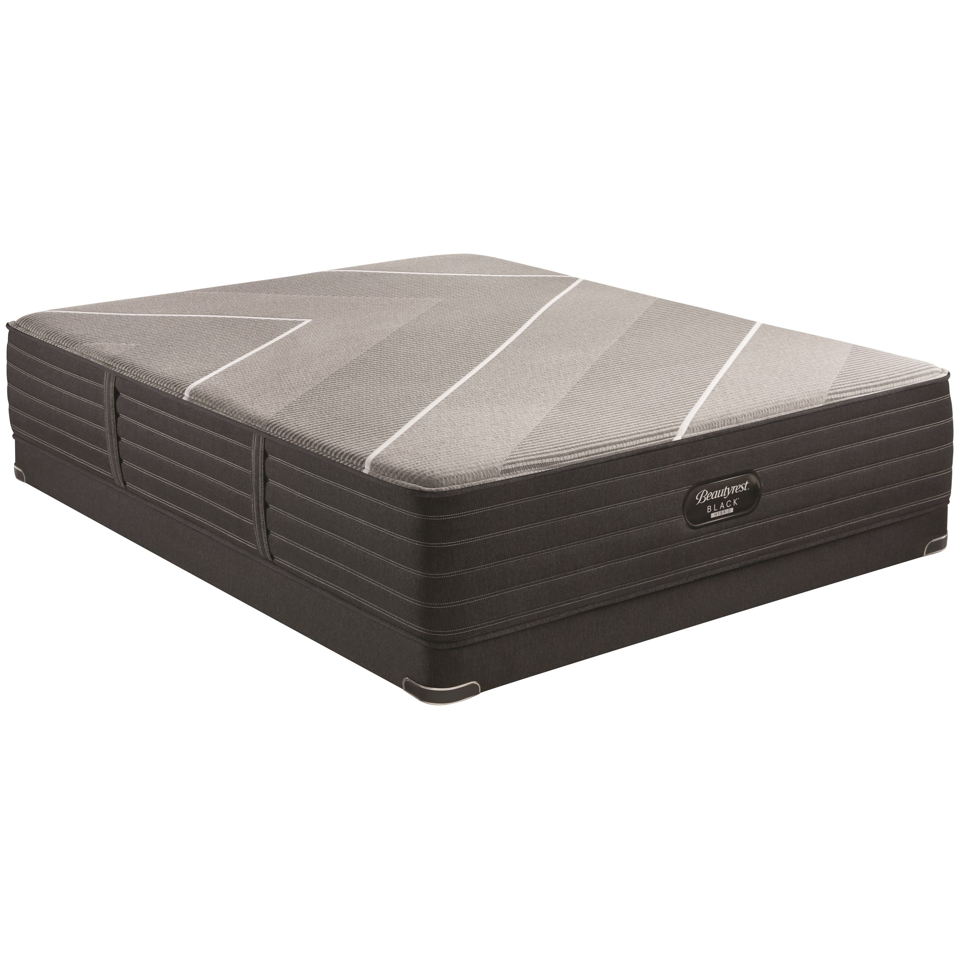 """Twin Extra Long 14 1/2"""" Firm Hybrid Luxury Mattress and 5"""" Low Profile BR Black Foundation"""