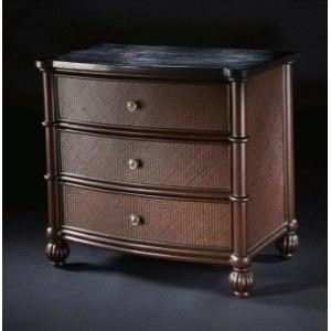 C.S. Wo & Sons Kingston3 Drawer Nightstand