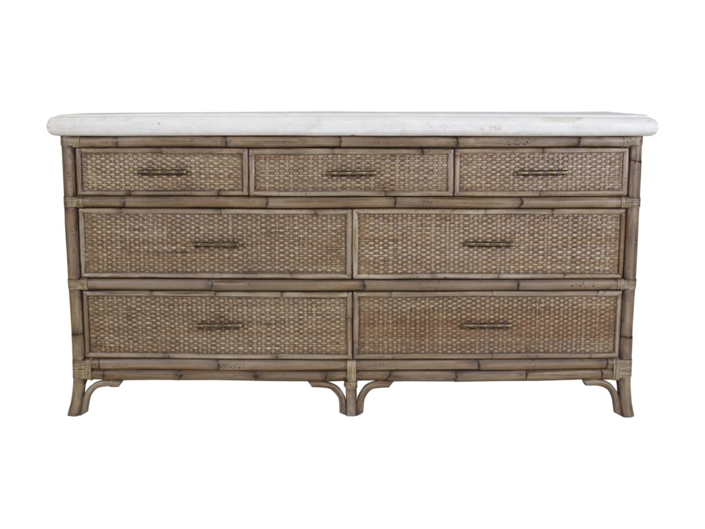 C.S. Wo & Sons Mandarin7 Drawer Dresser