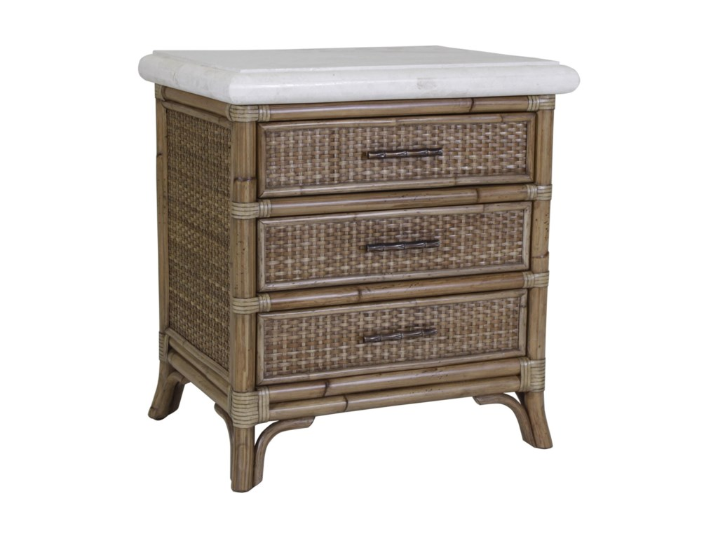 C.S. Wo & Sons Mandarin3 Drawer Nightstand