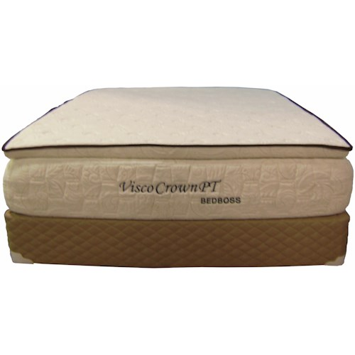 Bed Boss Visco Crown Full Pillow Top Memory Foam Mattress and Foundation