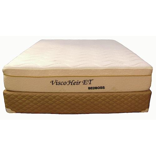 Bed Boss Visco Heir Queen Euro Top Memory Foam Mattress and Foundation