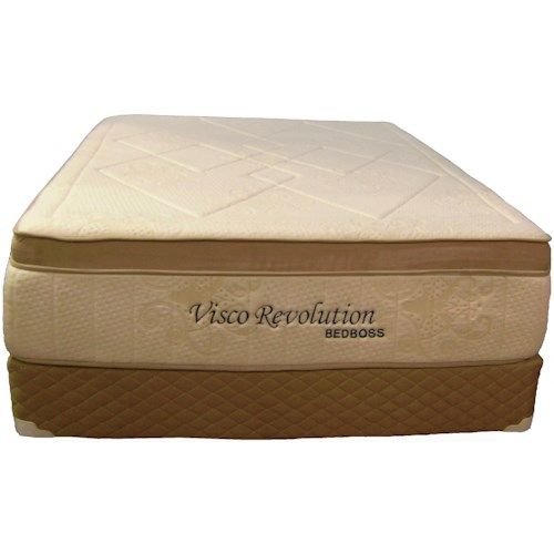 Bed Boss Visco Revolution King Box Top Memory Foam Mattress and Foundation