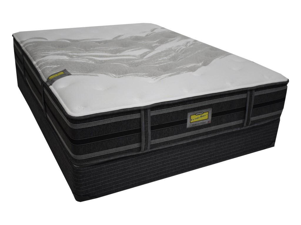 Mattress Direct Augusta PlushQueen Pocketed Coil Mattress Set