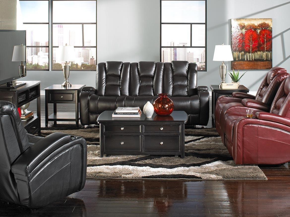 Living Room Furniture Greenville Nc behold home transformer black leather recliner - furniture fair