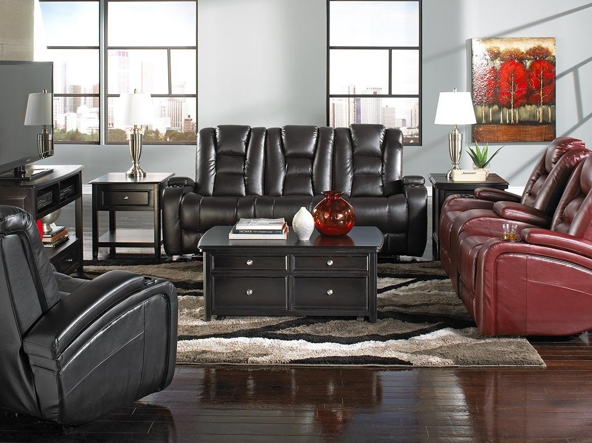 behold home transformer black leather recliner - Black Leather Recliner