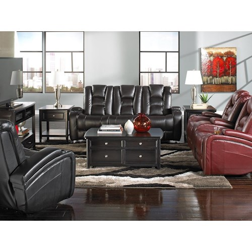 Behold Home Transformer Black Leather Recliner