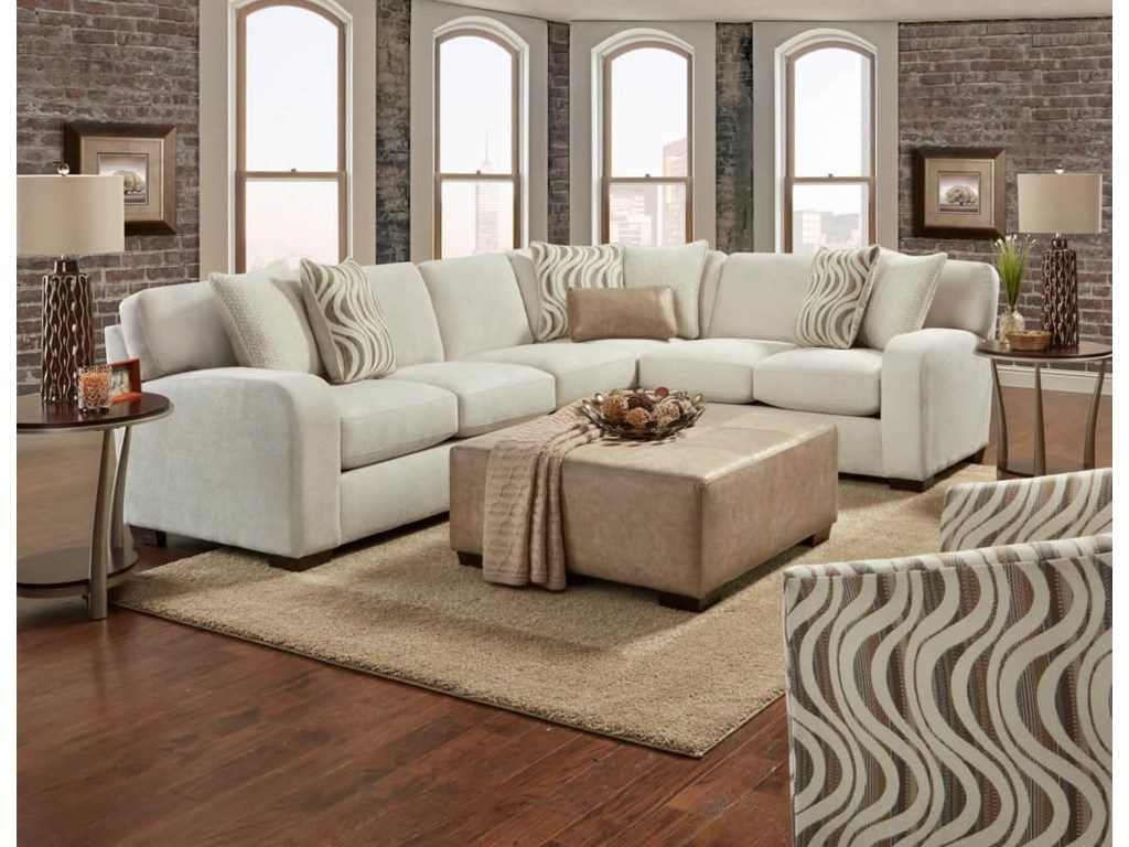 Behold Home ChandlerPebble 2 Piece Sectional