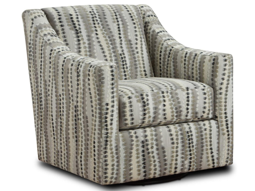Behold Home FlorenceCharcoal Swivel Accent Chair
