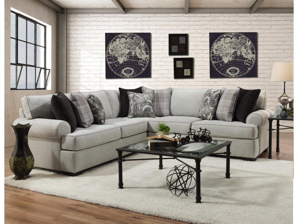 Behold Home Cooper Alabaster2 Piece Sectional