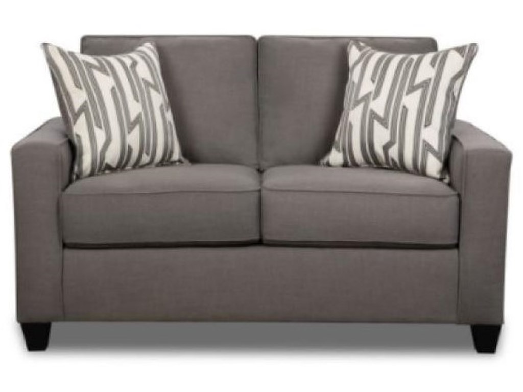 Behold Home Lynx SmokeLoveseat with Accent Pillows