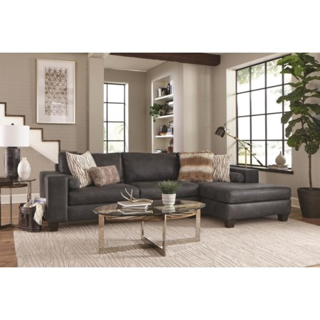 2PC Chaise Sectional Sofa
