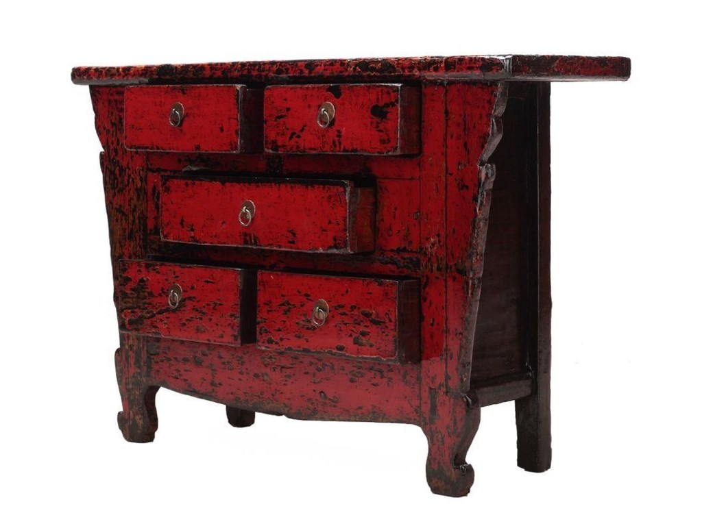 C.S. Wo & Sons Antiques5 Drawer Cabinet