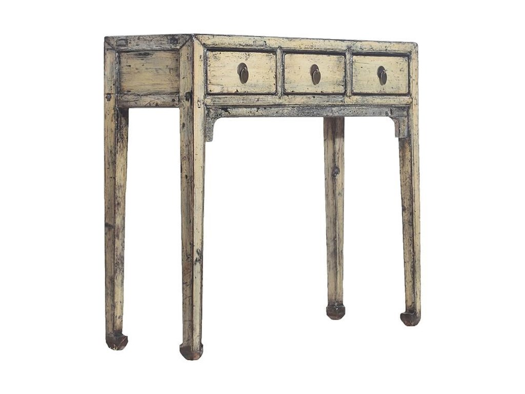 C.S. Wo & Sons Antiques3 Drawer Table